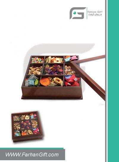جعبه پذیرایی چوبی 715 Tea box-هدیه تبلیغاتی چوبی