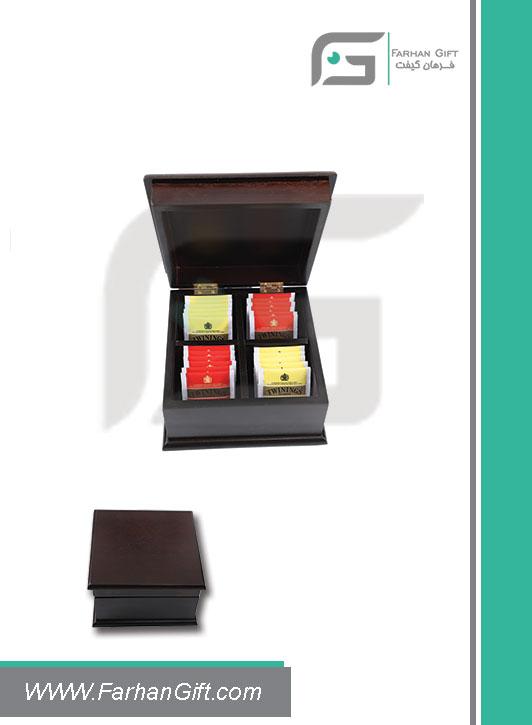 جعبه پذیرایی چوبی 700 Tea box-هدیه تبلیغاتی چوبی