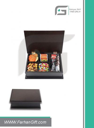 جعبه پذیرایی چوبی 704 Tea box-هدیه تبلیغاتی چوبی