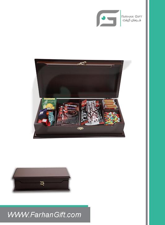 جعبه پذیرایی چوبی 705 Tea box-هدیه تبلیغاتی چوبی