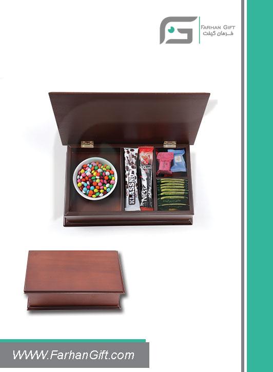 جعبه پذیرایی چوبی 708 Tea box-هدیه تبلیغاتی چوبی