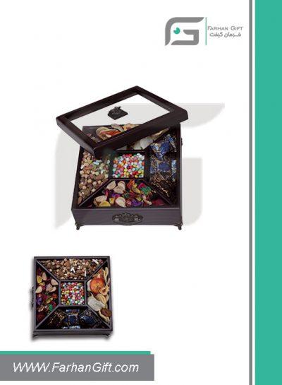 جعبه پذیرایی چوبی 711 Tea box-هدیه تبلیغاتی چوبی