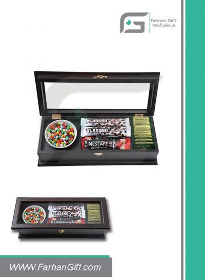 جعبه پذیرایی چوبی 721 Tea box-هدیه تبلیغاتی چوبی