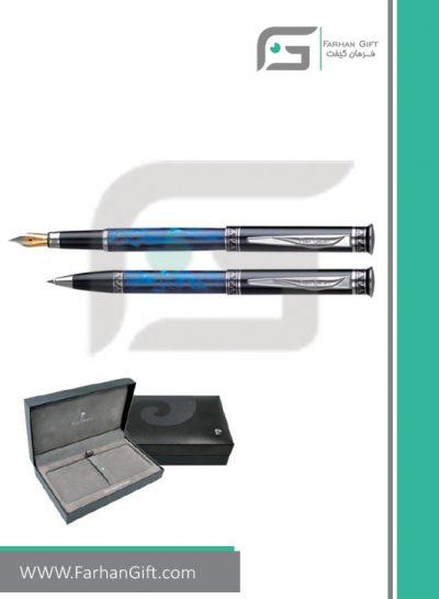 خودکار و خودنویس تبلیغاتی پیرکاردین pierre cardin nepton-black-blue هدایای تبلیغاتی