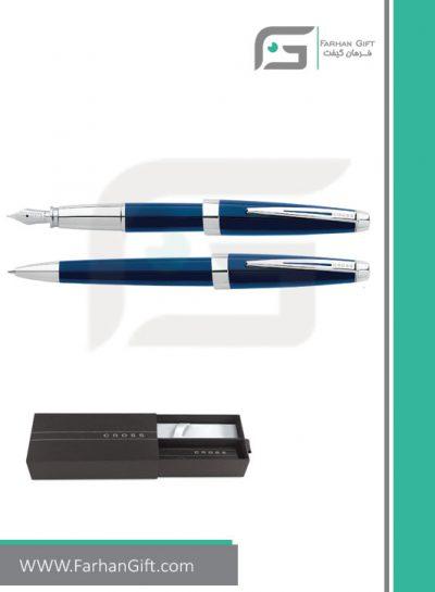 قلم نفیس کراس aventura blue هدایای تبلیغاتی خاص فرهان گیفت