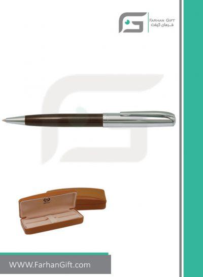 قلم نفیس ایپلمات pen iplomat fly-Brown-قلم تبلیغاتی ایپلمات فرهان گیفت