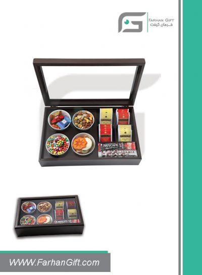 جعبه پذیرایی چوبی 712 Tea box-هدیه تبلیغاتی چوبی
