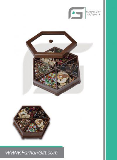 جعبه پذیرایی چوبی 716 Tea box-هدیه تبلیغاتی چوبی