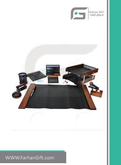 ست رومیزی کارمندی 13 تکه Employee Desktop Set Wood and metal-فرهان گیفت ست تبلیغاتی