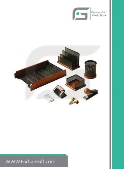 ست رومیزی کارمندی 8 تکه Employee Desktop Set Wood and metal-ست رومیزی کارمندی فرهان گیفت