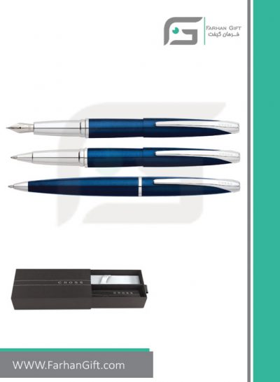 قلم نفیس کراس cross atx darkblueهدایای تبلیغاتی خاص فرهان گیفت