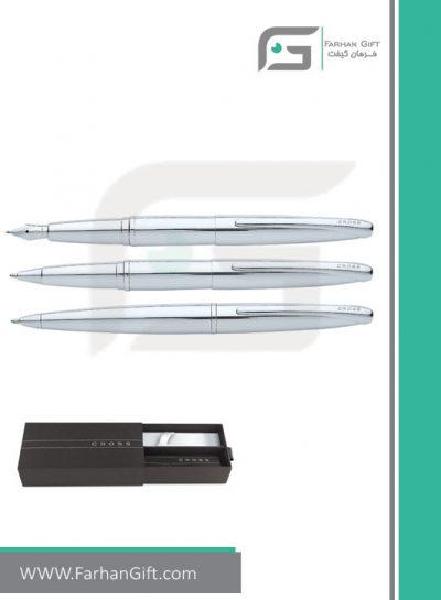 قلم نفیس کراس cross atx silver هدایای تبلیغاتی خاص فرهان گیفت