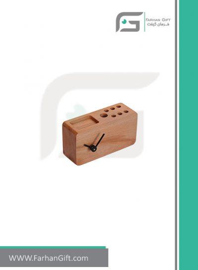 هدیه چوبی ساعت رومیزی تمپو Tempo clock FG-79445 هدایای تبلیغاتی لوکس
