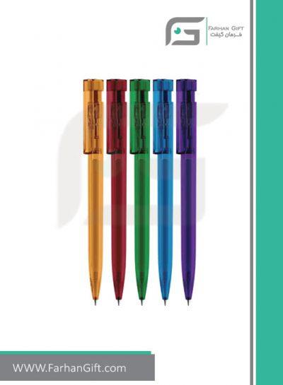خودکار تبلیغاتی پلاستیکی plastic Advertising pen-R-Clear-2983فرهان گیفت