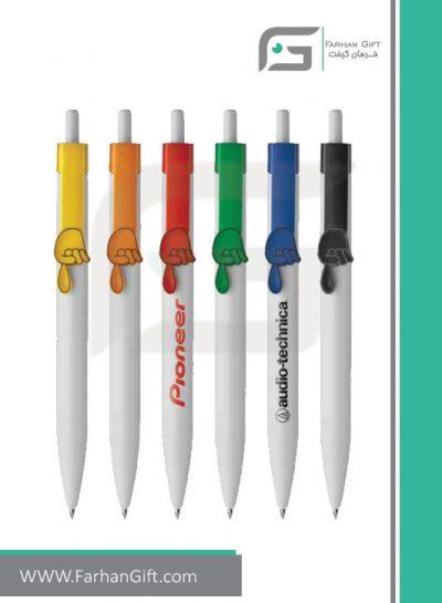 خودکار تبلیغاتی پلاستیکی plastic Advertising pen-R-R-Finger-Pointingفرهان گیفت