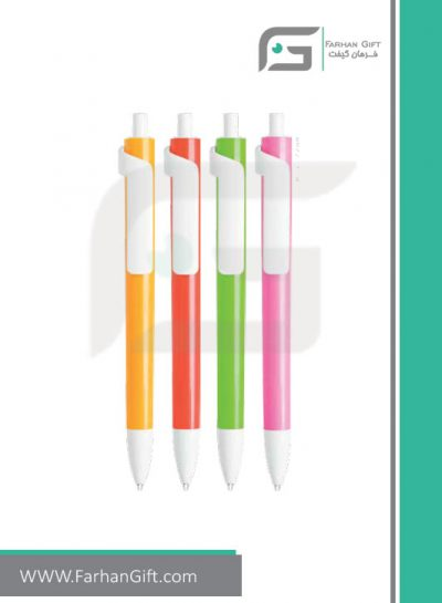 خودکار تبلیغاتی پلاستیکی plastic Advertising pen-R-Forte-607فرهان گیفت