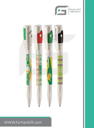 خودکار تبلیغاتی پلاستیکی plastic Advertising pen-R-Green-395MB فرهان گیفت