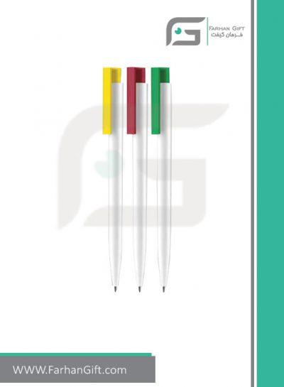 خودکار تبلیغاتی پلاستیکی plastic Advertising pen-R-Matt-mix-2727 فرهان گیفت