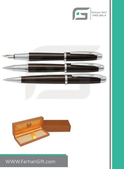 قلم نفیس ایپلمات pen iplomat allianz Brown-قلم تبلیغاتی ایپلمات فرهان گیفت
